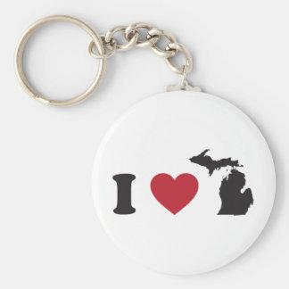 I Love Michigan Keychain