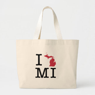 I Love Michigan Large Tote Bag