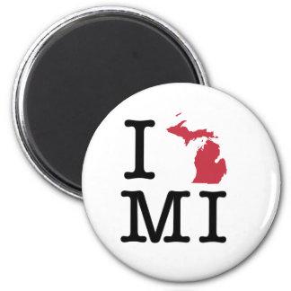 I Love Michigan Refrigerator Magnet