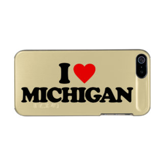 I LOVE MICHIGAN METALLIC iPhone SE/5/5s CASE