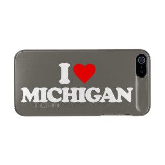 I LOVE MICHIGAN METALLIC PHONE CASE FOR iPhone SE/5/5s