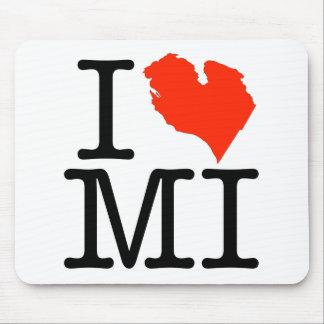 I Love Michigan! Mouse Pad