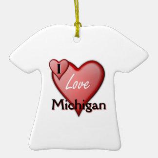 I Love Michigan Ornament