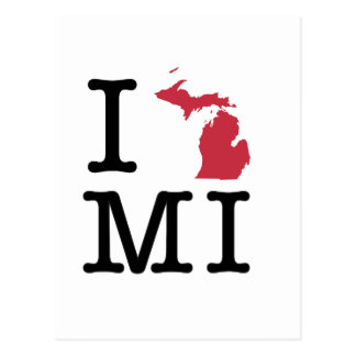 I Love Michigan Postcard