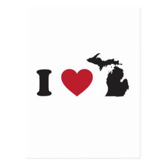 I Love Michigan Postcard