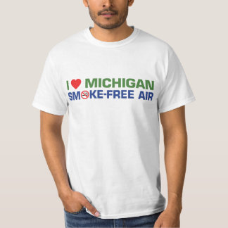 I love Michigan Smoke-Free Air Shirt