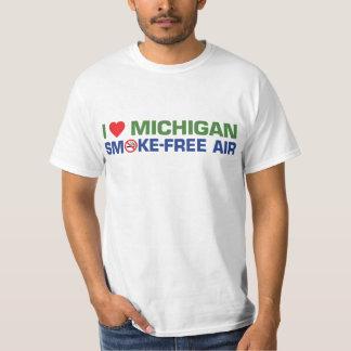 I love Michigan Smoke-Free Air Tshirts