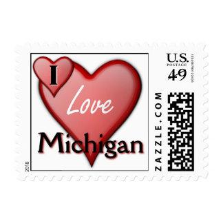 I Love Michigan Stamp