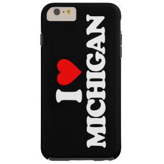 I LOVE MICHIGAN TOUGH iPhone 6 PLUS CASE