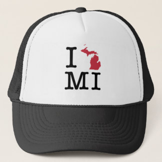 I Love Michigan Trucker Hat