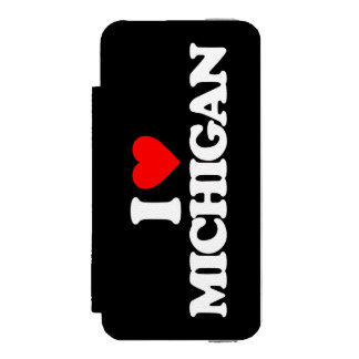 I LOVE MICHIGAN WALLET CASE FOR iPhone SE/5/5s