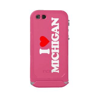 I LOVE MICHIGAN WATERPROOF iPhone SE/5/5s CASE