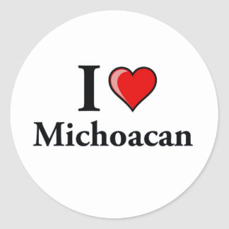 I Love Michoacan Classic Round Sticker