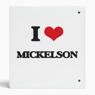I Love Mickelson Vinyl Binders