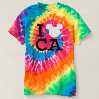 I Love Mickey   California Disneyland Tie-Dye T-shirt