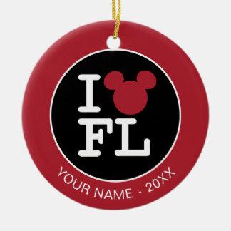 I Love Mickey   Florida  - Add Your Name Ceramic Ornament