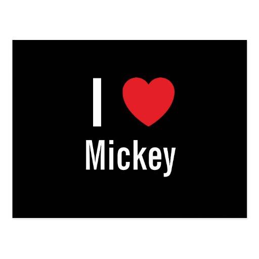 I love Mickey Post Cards