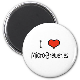 I Love Micro-Breweries 2 Inch Round Magnet
