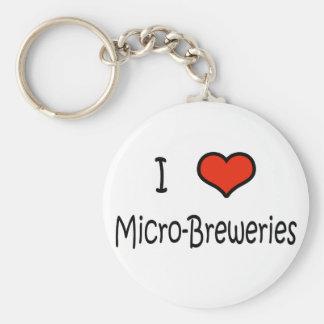 I Love Micro-Breweries Basic Round Button Keychain