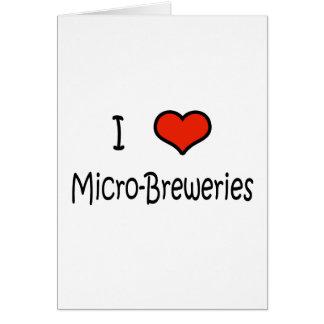 I Love Micro-Breweries Card