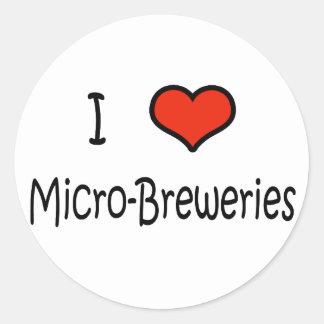 I Love Micro-Breweries Classic Round Sticker