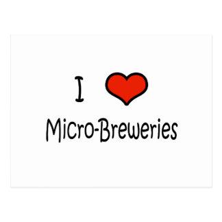 I Love Micro-Breweries Postcard
