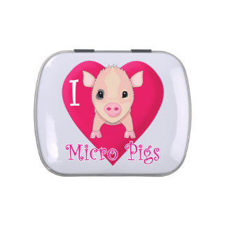 I Love Micro Pigs Candy Tin