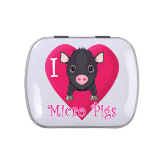 I Love Micro Pigs Jelly Belly Tin