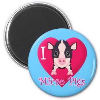 I Love Micro Pigs Magnet