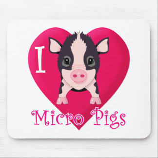 I Love Micro Pigs Mouse Pad