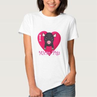 I Love Micro Pigs T Shirt