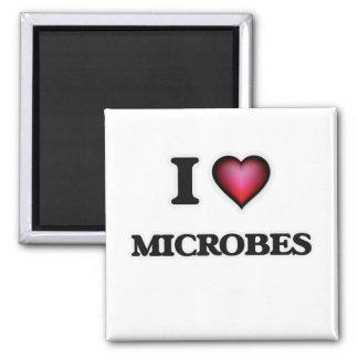 I Love Microbes Magnet