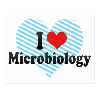 I Love Microbiology Postcard