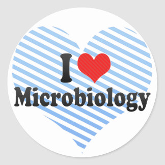 I Love Microbiology Sticker