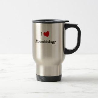 I Love Microbiology Travel Mug