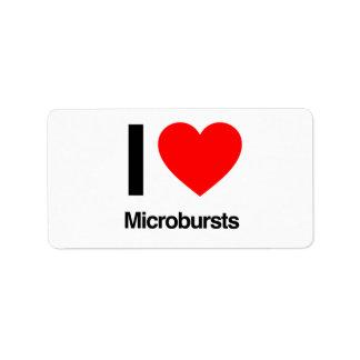 i love microbursts address label