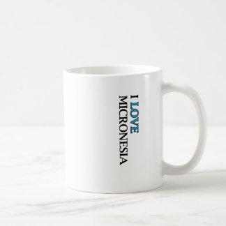 I Love Micronesia Design Coffee Mug