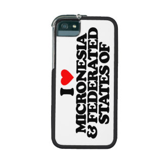 I LOVE MICRONESIA & FEDERATED STATES OF COVER FOR iPhone 5/5S