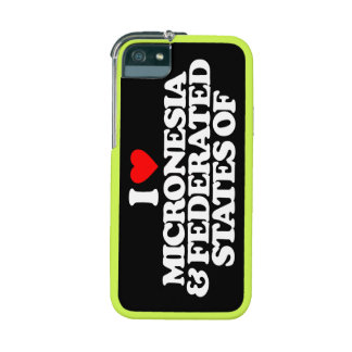I LOVE MICRONESIA & FEDERATED STATES OF iPhone 5/5S CASE