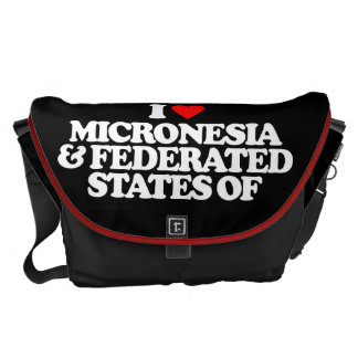 I LOVE MICRONESIA & FEDERATED STATES OF MESSENGER BAG