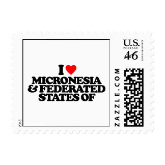 I LOVE MICRONESIA FEDERATED STATES OF STAMP
