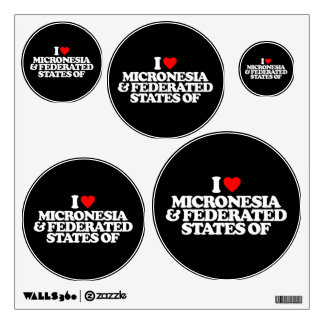 I LOVE MICRONESIA & FEDERATED STATES OF ROOM GRAPHICS