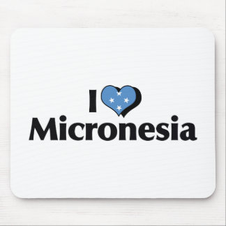 I Love Micronesia Flag Mouse Pad