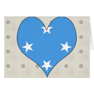 I Love Micronesia Greeting Card