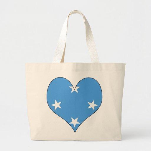 I Love Micronesia Jumbo Tote Bag