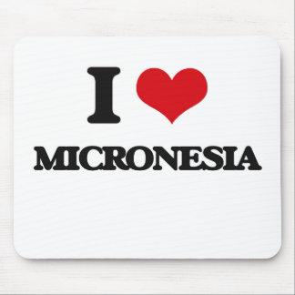 I Love Micronesia Mouse Pad
