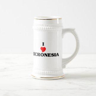 I Love Micronesia 18 Oz Beer Stein