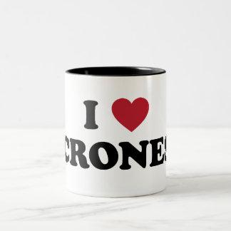 I Love Micronesia Two-Tone Coffee Mug