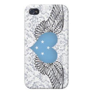 I Love Micronesia -wings Case For iPhone 4