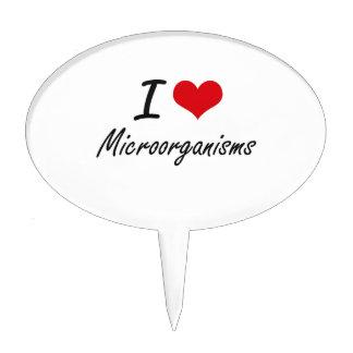 I Love Microorganisms Cake Pick